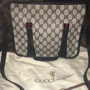 Authentic Gucci Navy Handbag
